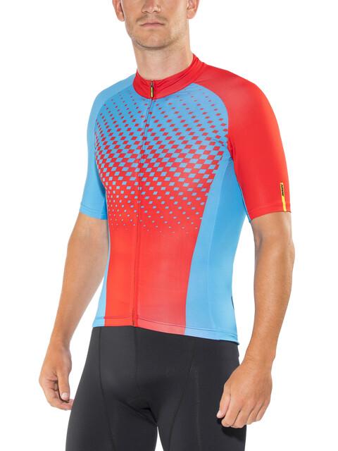 Mavic Crossmax Elite Bike Jersey Shortsleeve Men red/blue